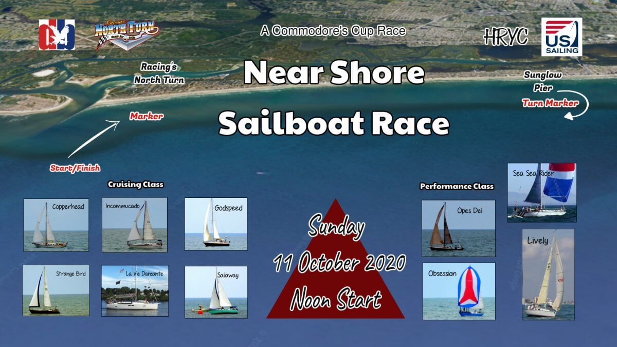 near shore sailboat race