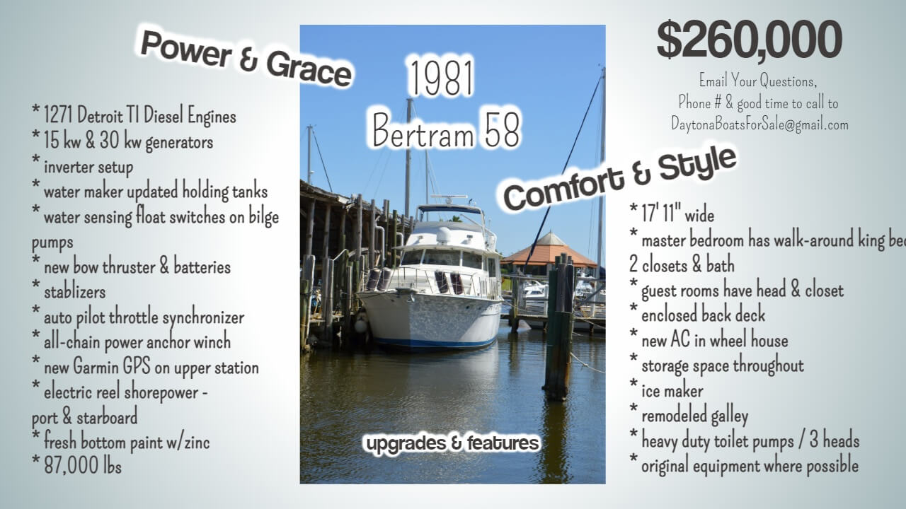 For Sale: 1981 Bertram 58 MotorYacht