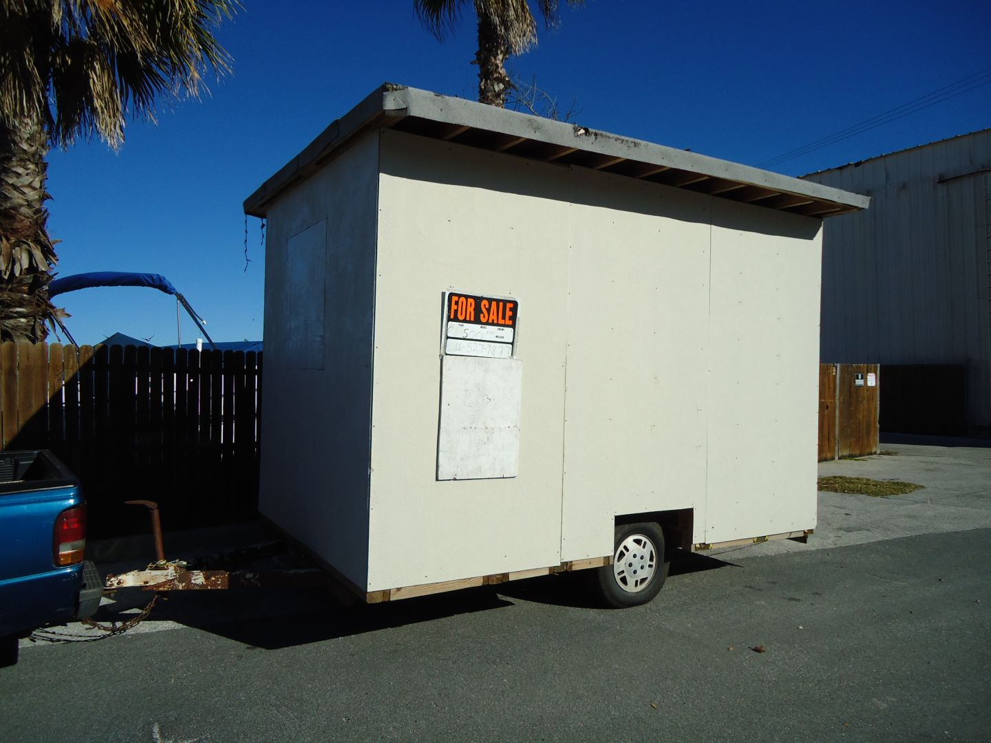 8 foot by 12 foot by 8 foot storage trailer
