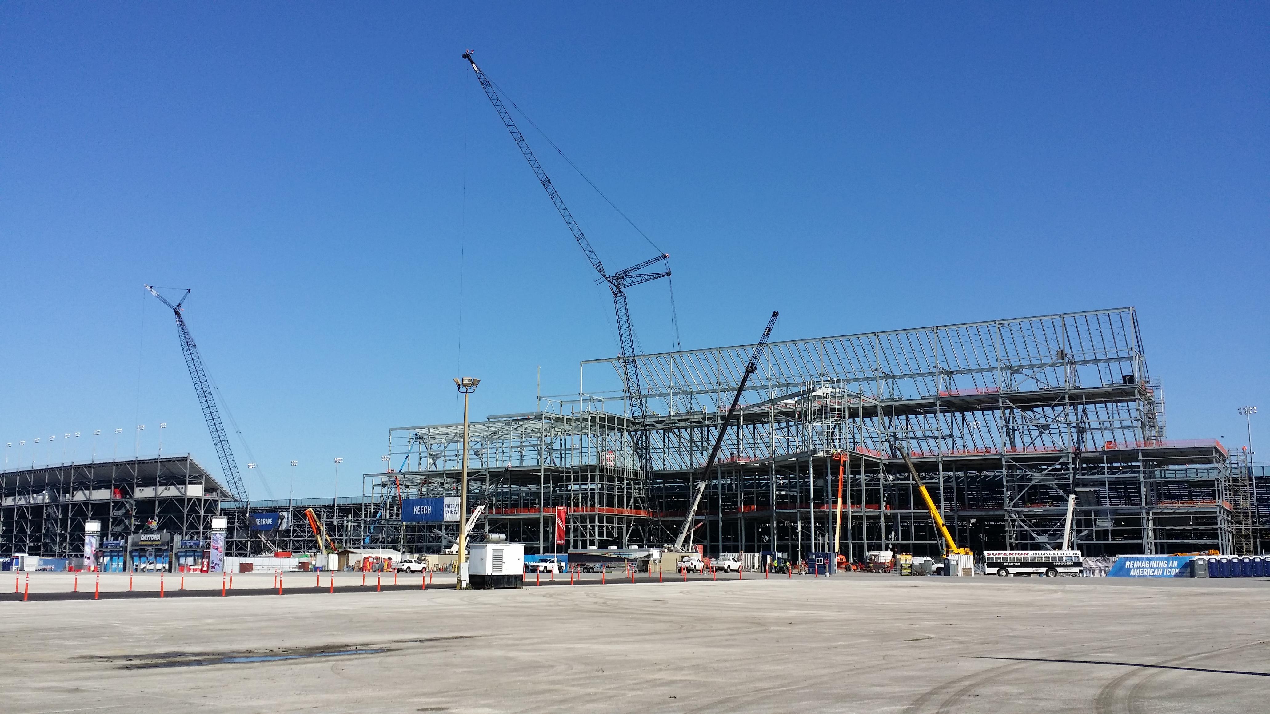 Renovation of Daytona International Speedway on 10 February 2014