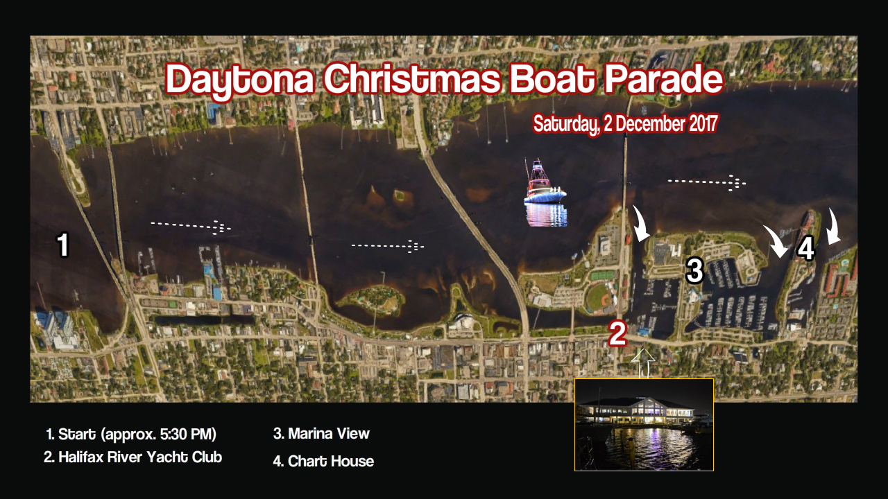 Daytona Boat Parade Route