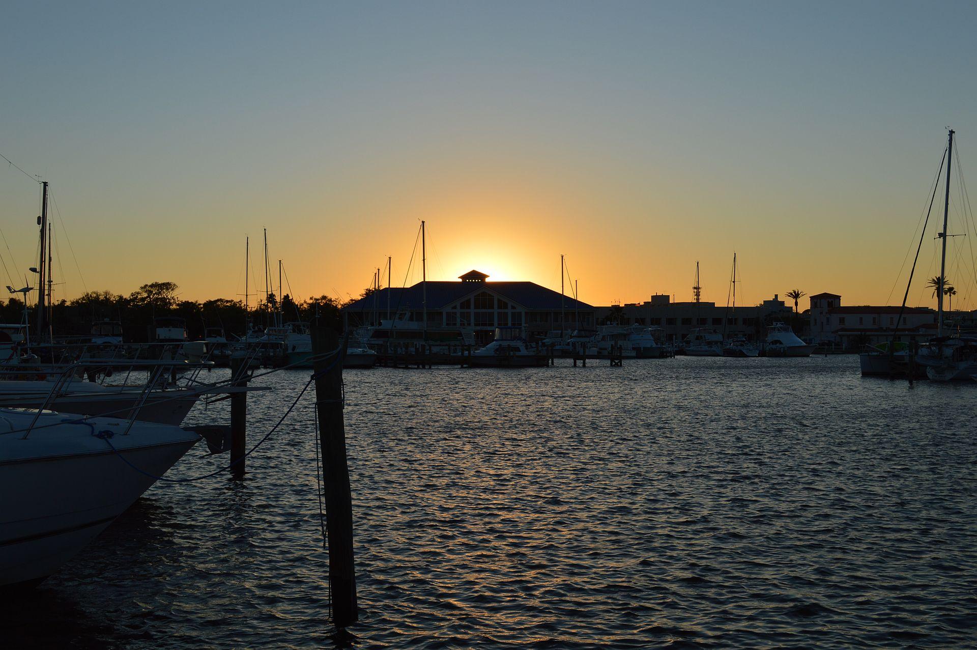 Halifax River Yacht Club at Sunset